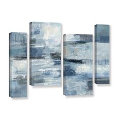 Shop for Silvia Vassileva 'Clear Water Indigo and Gray' 4-piece Gallery Wrapped Canvas Staggered Set. Get free delivery at Overstock.com - Your Online Art Gallery Store! Get 5% in rewards with Club O!