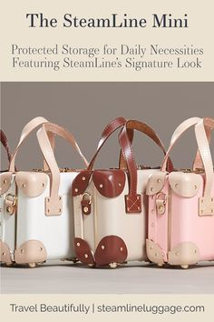 The SteamLine Mini Crossbody Purse, Mini Travel Bag | The Mini is SteamLine Luggage's accessory case designed for daily adventures. With the Mini, daily tasks are elevated to make a SteamLine statement with our beautifully designed crossbody purse. Protect your daily carry items & show off retro fashion vibes. Whether you use the Mini solo or with a matching luggage set, this handbag is sure to be your new BFF. | Purses and Handbags, Cute Purses | #vintageoutfits #retrofashion #cutebags…