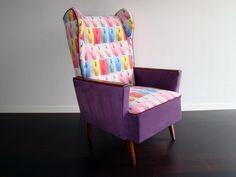 OFFdesign! Designerski Fotel Uszak PRL Vintage