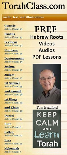 Free Balanced Bible Teachings: Videos, Audios and Slide Shows Chapter by Chapter through Torah and the  Prophets http://www.torahclass.com