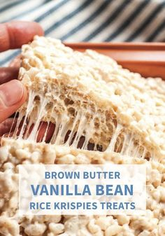 Add an extra layer of indulgence to your favorite dessert recipe with these Brown Butter Vanilla Bean Rice Krispies Treats. Mini marshmallows and Rice Krispies cereal give this easy no-bake treat that classic taste you know and love while browned bu