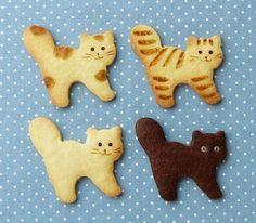Kitty cookies too cute to eat meow Cat Cookies, Cupcake Cookies, Sugar Cookies, Cupcakes, Bolacha Cookies, Animal Crackers, Cookie Designs, Cute Food, Cookie Decorating
