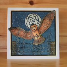 Janie's Collection – Orla Owl stamp set designed by Janie Burnett-Bleach for Hobby Art Stamps. This stunning clear set consists of 9 clear stamps. Card by Lisa Pearce Hobbies And Crafts, Clear Stamps, A5, Sheena Douglass, Birds, Owls, Bleach, Card Ideas, Projects