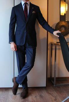 Bespoke Anderson & Sheppard suit Finamore shirt Rubinacci tie Charvet PS Meermin shoes