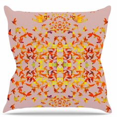 Flying Birds Throw Pillow