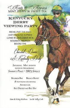 Gallop Kentucky Derby Horse Invitation | Polka Dot Design