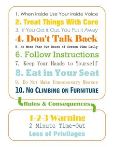 house rules for toddlers - Google Search