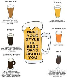 what your beer says about you more about you beer style brew food