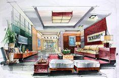 Living-room-hand-draw-interior-design.jpg 1,023×670 pixeles
