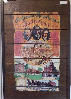 Rare Vtg Anheuser Busch Budweiser Beer St Louis Brewery Wooden Raisinrak Sign (not in my collection, but nice) St Louis Breweries, Dried Raisins, Buy Sell Trade, Wooden Rack, Bar Signs, Tins, Brewery, Confidence, Woodworking