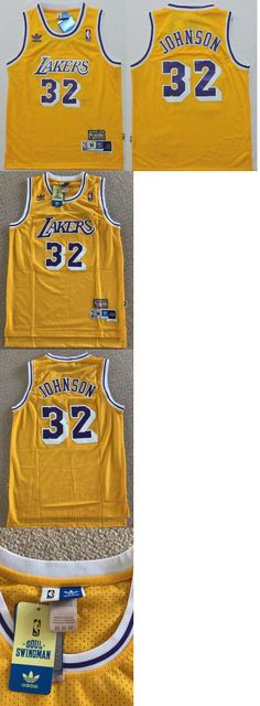 Basketball-NBA 24442: Nwt Vintage Adidas Hardwood Classics Magic Johnson Los Angeles Lakers Nba Jersey -> BUY IT NOW ONLY: $34.5 on eBay!