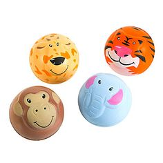 Jungle animal sqeeze balls. party favors. I LOVE this website for big party decor. esp kid parties