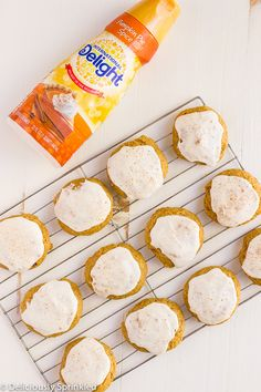 These super simple (and delicious) Frosted Pumpkin Cookies are the perfect after school treat for the whole family! Check out the step by step recipe today! Cant wait to try this! Pumpkin Cookies, Pumpkin Pie Spice, Pie Spice Recipe, Coffee Creamer Recipe, Spiced Coffee, School Treats, Recipe Today, Cute Cakes, Pumpkin Recipes