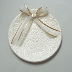 ring bearer idea- sweet plate that you could hang in your house as a keepsake later