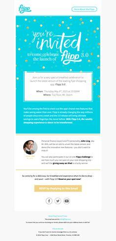 Flipp invitations