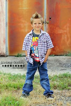 Living Legacy Photography 6 year old boy session urban outdoor natural light portraits
