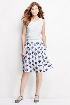 Women's Embroidered Skirt from Lands' End