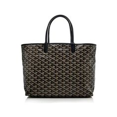 Rental Goyard Goyardine Canvas St. Louis PM Tote (1 420 SEK) ❤ liked on Polyvore featuring bags, handbags, tote bags, black, tote bag purse, goyard, tote hand bags, canvas totes and goyard tote bag