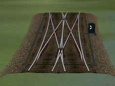 Weichensystem Holzgleis Set 4 (Doppelte Kreuzungsweichen)