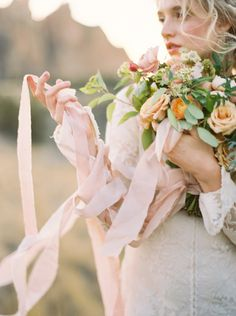 Frou Frou Chic Blush Ribbon | by Anna Peters Photography