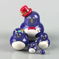 Family of Penguins Nesting Dolls