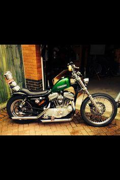 98 bobbed Harley