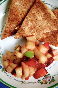 appleberry salsa with cinnamon chips