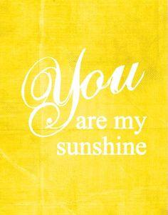 yellow print, sunshine