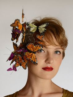 Butterfly Kisses statement headpiece fascinator by DashaB on Etsy, $55.00