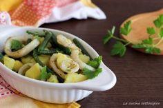 Insalata di totani patate e fagiolini