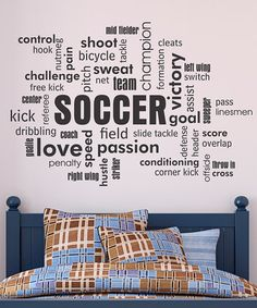 Soccer Wall Decor 10 boys soccer room ideas | word collage, pallet art and soccer room