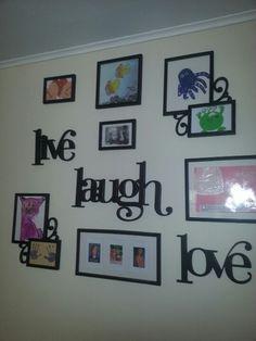 Cool way to Display preschool art :-)