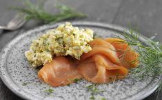 Lækker frokostret med æggesalat og laks til Dukan kurens angrebsfase.