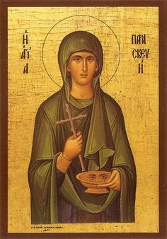 Saint Paraskevi the Greatmartyress. Byzantine Icons, Byzantine Art, Writing Icon, Fortune Cards, Roman Soldiers, Art Icon, Orthodox Icons, Jesus Christ, Christianity