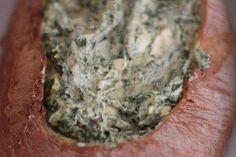 cob loaf dip- spinach