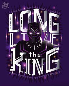 Black Panther - Long Live the King - Hand Lettering by Risa Rodil
