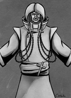 Sketch of Claudius, from my upcoming graphic novel Death Monk. Learn more at www.DeathMonk.com