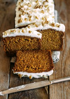 Copycat Starbucks Gingerbread Loaf with Cream Cheese Frosting
