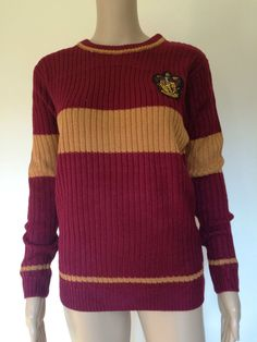 Harry Potter Women's Gryffindor Quidditch Jumper Sweater Primark in Collectables, Fantasy/ Myth/ Magic, Harry Potter   eBay