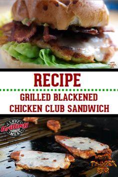 Grilled Blackened Chicken Club Sandwich