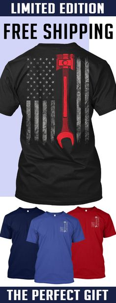Mechanics American Flag - Limited Edition. Only 2 days left for free shipping, get it now!