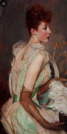 Giovanni Boldini - La contessa de Lesse / Portrait of Countess de Leusse