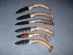 8 inch wholesale knives Flint Knapping, Indian Artifacts, Knifes, Anthropology, Antlers, Primitive, Weapons, Bones, Knives