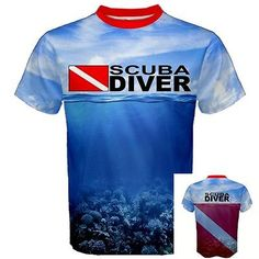 SCUBA DIVER Down Flag Deep Sea Diving Equipment Pro Sport Print T-SHIRT SDF - http://scuba.megainfohouse.com/scuba-diver-down-flag-deep-sea-diving-equipment-pro-sport-print-t-shirt-sdf/
