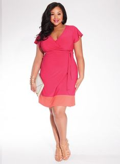 cfcaaac1f29 Geneva Plus Size Wrap Dress at Curvalicious Clothes.  online  www.curvaliciousclothes.com