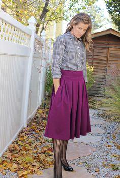Love Notions Sybil Skirt- box pleated version by SewSophieLynn