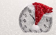 Download wallpapers New Year, clock, snow, Christmas, christmas decorations, xmas, Happy New Year