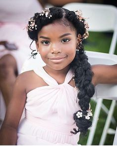 44 Sweet Daughter Hairstyles Ideas to Copy Now Breathtaking 44 Sweet Daughter Hairstyles Ideas to Co Wedding Hairstyles For Girls, Kids Braided Hairstyles, Flower Girl Hairstyles, Black Girls Hairstyles, Junior Bridesmaid Hairstyles, Simple Hairstyles, Hairstyles 2016, African Hairstyles, Formal Hairstyles