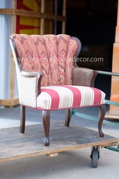IN STOCK  Vintage Channel back upholstered by ReNewalHomeDecor