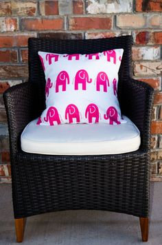 Pink Elephant Nursery Pillow Cover Home Decor By